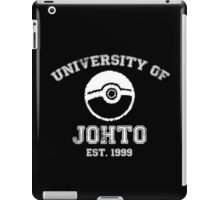 University of Johto - White Font iPad Case/Skin