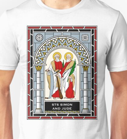 SAINTS SIMON AND JUDE under STAINED GLASS Unisex T-Shirt