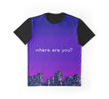 where are you? purple vaporwave city Graphic T-Shirt