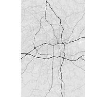 Winston–Salem, USA Map. (Black on white) Photographic Print