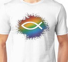 Rainbow Christian Fish Unisex T-Shirt