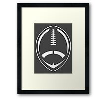 White Vector Football Framed Print