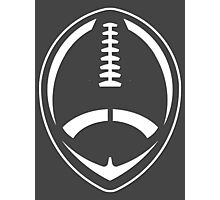 White Vector Football Photographic Print