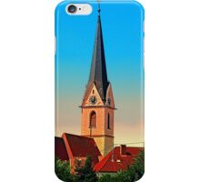 The village church of Allhaming I | architectural photography iPhone Case/Skin