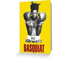Jean Michel Basquiat Boxing Greeting Card