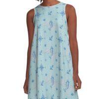 nautical pattern A-Line Dress