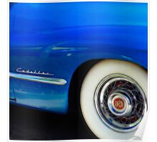 Classic Car Blue Cadillac - photography Poster