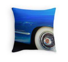 Classic Car Blue Cadillac - photography Throw Pillow