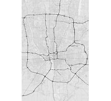 Columbus, USA Map. (Black on white) Photographic Print