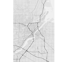 Toledo, USA Map. (Black on white) Photographic Print