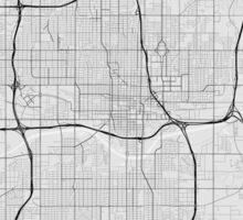 Oklahoma City, USA Map. (Black on white) Sticker