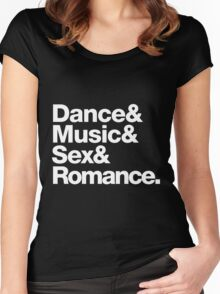 Prince Party Rules: Dance Music S3X Romance DMSR Women's Fitted Scoop T-Shirt