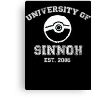 University of Sinnoh - White Font Canvas Print