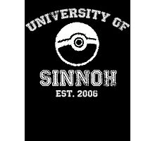 University of Sinnoh - White Font Photographic Print