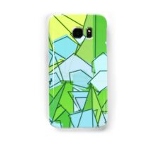Mid-Century Modern Abstact, Lime Green and Yellow Samsung Galaxy Case/Skin
