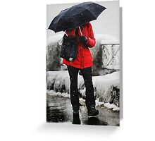 The Red Coat Greeting Card