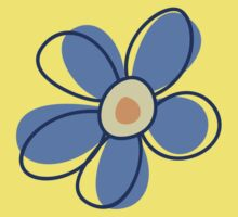 Flowers, Blossoms, Blooms, Petals - Blue Yellow Kids Clothes