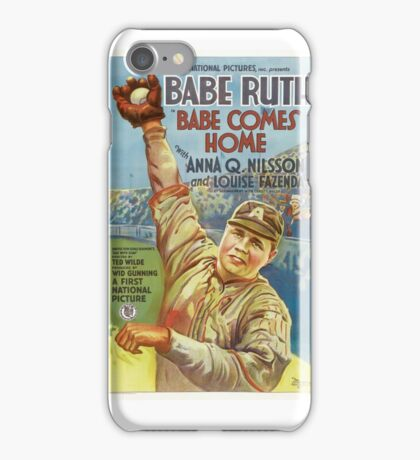 Babe Ruth Comes Home - 1927 Movie Poster iPhone Case/Skin