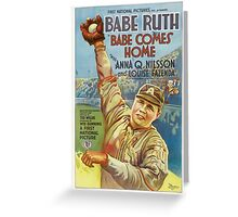 Babe Ruth Comes Home - 1927 Movie Poster Greeting Card