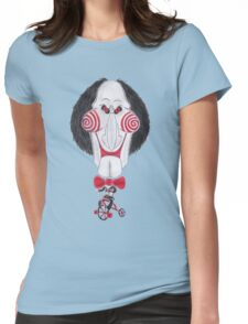 Horror Movie Puppet Caricature Womens Fitted T-Shirt