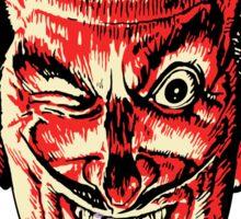 Vintage Halloween Red Devil Head Sticker