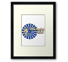 Karate Pixl Framed Print