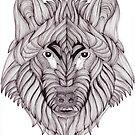 Big Prairie Wolf by Christianne Gerstner