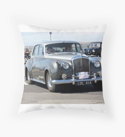 Vintage Two-Tone Bentley, West Kirby, July 2014 Throw Pillow