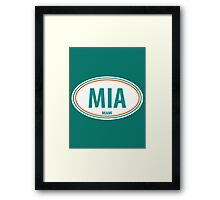 MIA - EURO STICKER Framed Print