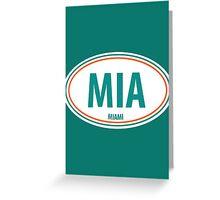 MIA - EURO STICKER Greeting Card