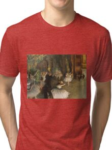 Edgar Degas - The Rehearsal Of The Ballet Onstage 1874 Tri-blend T-Shirt