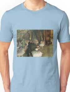 Edgar Degas - The Rehearsal Of The Ballet Onstage 1874 Unisex T-Shirt