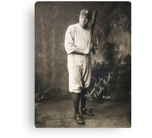 Yours Truly, Babe Ruth - NY Yankees Canvas Print