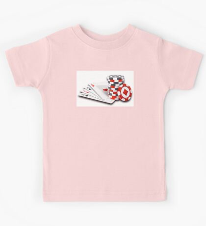 Poker cards and chips Kids Tee