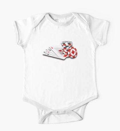 Poker cards and chips One Piece - Short Sleeve