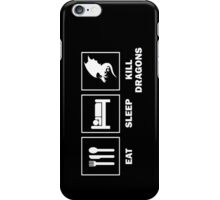 Eat Sleep Kill Dragons iPhone Case/Skin