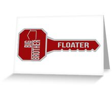 Big Brother All Star Key FLOATER Greeting Card