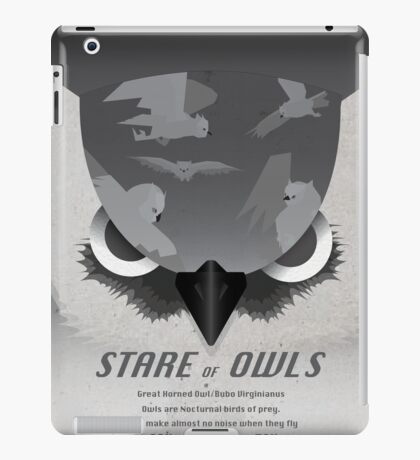 Stare of Owls iPad Case/Skin