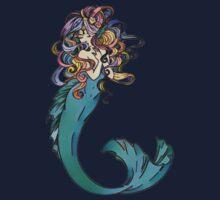 Colorful Mermaid Art One Piece - Short Sleeve