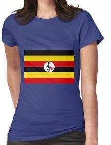 UGANDA (FLAG) Womens Fitted T-Shirt