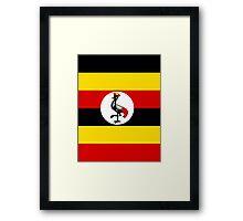 UGANDA (FLAG) Framed Print