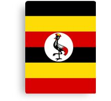 UGANDA (FLAG) Canvas Print