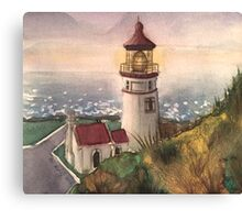 Lighthouse-scroll down to view more of my work Canvas Print