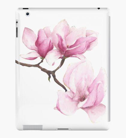 Watercolor Magnolia Blossoms iPad Case/Skin