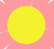 Flowers, Blossoms, Blooms, Petals - Pink Yellow  Sticker