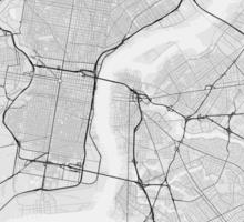 Philadelphia, USA Map. (Black on white) Sticker