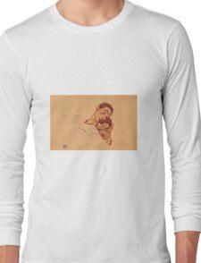 Egon Schiele - Double Self Portrait 1915 Long Sleeve T-Shirt