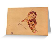 Egon Schiele - Double Self Portrait 1915 Greeting Card