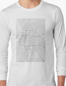 Memphis, USA Map. (Black on white) Long Sleeve T-Shirt