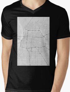 Memphis, USA Map. (Black on white) Mens V-Neck T-Shirt